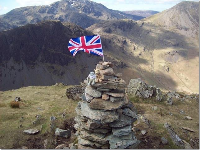 At summit of Fleewith Pike